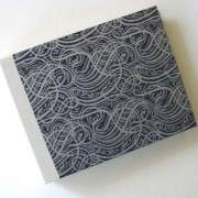 Silver Swirl on Navy Photo Album