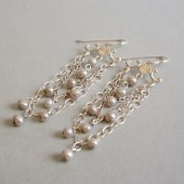 Sway Freshwater Pearl and Sterling Silver Earrings