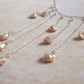 Symphony Freshwater Petal Pearl and Sterling Silver Waterfall Necklace