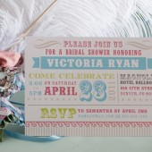 Vintage Circus Shower Invite