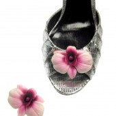 Pink Orchid Magnetic Shoe Clips