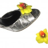 Yellow Orchid Magnetic Shoe Clips