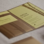 hand crafted wedding invitation