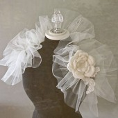 Bridal tulle shoulder wrap