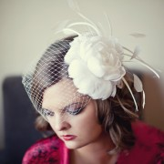 Elaborate white bridal head piece