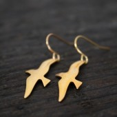 Maive - Brass Gull Earrings