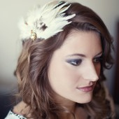 Natural tone feather fascinator