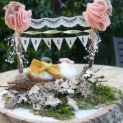 Hooray Cake Topper- Spring