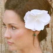 Lida - natural cotton flower headpiece
