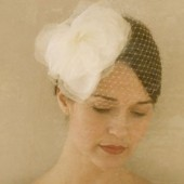 Ave - silk organza headpiece with birdcage veil