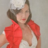 Red bridal wrap