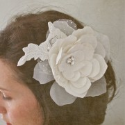 Silk and organza headpiece