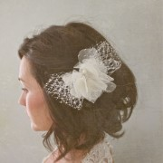 Lottie - french netting and silk hair clip