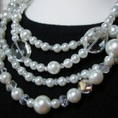 Coco Pearl & Crystal Necklace