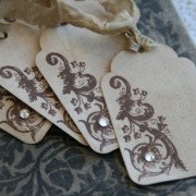 french flourish tags