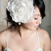 Lace and cotton fascinator by Tessa Kim