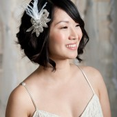 Rhinestone headpiece by Tessa Kim