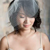 Double layer mini veil by Tessa Kim