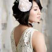 Blush fascinator by Tessa Kim
