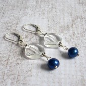 Enlighten Freshwater Pearl, Quartz and Sterling Silver Earrings