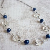 Enlighten Freshwater Pearl, Quartz and Sterling Silver Necklace