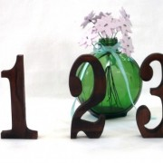 Stained wood table numbers