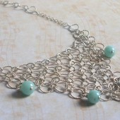 Solace Sterling Silver and Amazonite Necklace