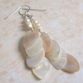 Transform Freshwater Pearl, Mother of Pearl and Sterling Silver Earrings
