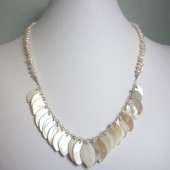 Transform Freshwater Pearl, Mother of Pearl and Sterling Silver Necklace