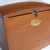 Wish Box w/ brass name plate