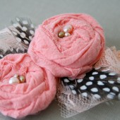 Paige- Flower Girl Elastic Headband