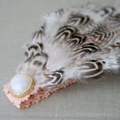 Tabitha- Feathered Flower Girl Headband