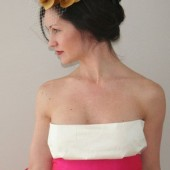 Simple pink silk bridal sash