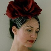 Lia silk flower headpiece
