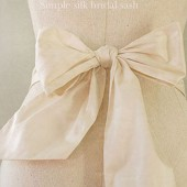 simple silk bridal sash