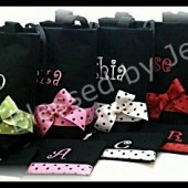 Bridesmaid  Tote with Cosmetic Bags