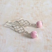 Affection Rhodochrosite and Sterling Silver Earrings