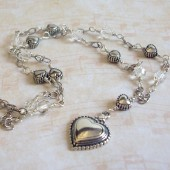 Amourous Swarovski Crystal and Sterling Silver Necklace