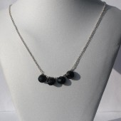 Black Balloon Necklace