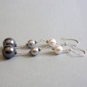 Cosmopolitan Swarovski Pearl and Sterling Silver Earrings