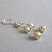 Cosmopolitan Glass Pearl and Sterling Silver Earrings