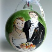 Custom Painted Wedding Portrait Ornament