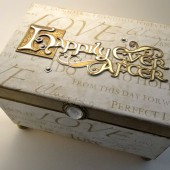 Happily Ever After - Gold Guest Book Box