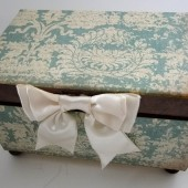 Blue Damask Wedding Guest Book Alternative