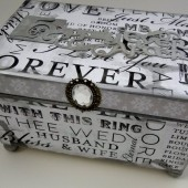 Happily Ever After - Silver Guest Book Box