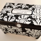Modern Style - Wedding Guest Book Box Alternative