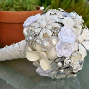 White Brooch Bouquet