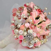 Rose Bud Button Bouquet