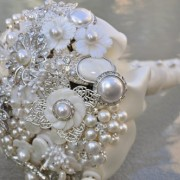 White Pearl Brooch Bouquet