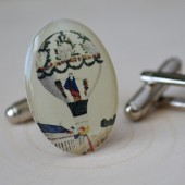 hot airballoon cufflinks